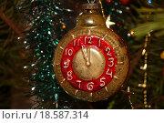 Купить «Новогодние часы. Елочная игрушка», эксклюзивное фото № 18587314, снято 1 января 2016 г. (c) Volgograd.travel / Фотобанк Лори