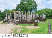 Купить «Руины здания Атадаге - дома реликвии зуба Будды в древнем городе Полоннарува. Шри-Ланка», фото № 18612742, снято 15 декабря 2015 г. (c) Аркадий Захаров / Фотобанк Лори