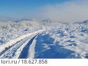 Зимний пейзаж, дорога. Стоковое фото, фотограф Марина Остапенко / Фотобанк Лори