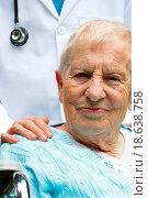 Купить «Senior lady in wheelchair with her doctor», фото № 18638758, снято 13 ноября 2019 г. (c) easy Fotostock / Фотобанк Лори