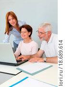 Купить «Group of senior people attending job search meeting», фото № 18689614, снято 8 июля 2020 г. (c) easy Fotostock / Фотобанк Лори