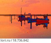 Купить «Magical reflection of a small dinghy dory boats digitally altere», фото № 18736842, снято 29 февраля 2020 г. (c) easy Fotostock / Фотобанк Лори