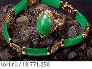 Green Jade Jewelry. Стоковое фото, фотограф Scott Mcgill / easy Fotostock / Фотобанк Лори