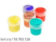 Купить «Five cans of paint buckets», фото № 18783126, снято 22 февраля 2019 г. (c) easy Fotostock / Фотобанк Лори