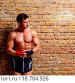 Купить «muscle boxer shaped man with fist bandage», фото № 18784926, снято 4 августа 2020 г. (c) easy Fotostock / Фотобанк Лори