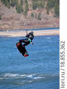 Купить «Wind surfer riding the wind, Hood river OR.», фото № 18855362, снято 8 июля 2020 г. (c) easy Fotostock / Фотобанк Лори