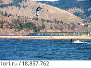 Купить «Wind surfer riding the wind, Hood river OR.», фото № 18857762, снято 8 июля 2020 г. (c) easy Fotostock / Фотобанк Лори