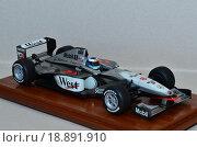 Масштабная модель фирмы Tamiya точная копия болида Формулы 1 масштаб 1:20 MCLAREN MP- 4/14 1999 года с фигуркой Мики Хаккинена. Редакционное фото, фотограф Svetlana Agaeva / Фотобанк Лори