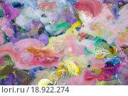 Купить «Желтые и розовые пятна краски», фото № 18922274, снято 12 ноября 2014 г. (c) Elizaveta Kharicheva / Фотобанк Лори