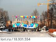 Купить «Новогоднее украшение в Парке Победы в Москве», эксклюзивное фото № 18931554, снято 5 января 2010 г. (c) lana1501 / Фотобанк Лори