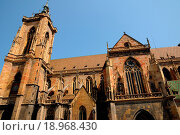 Купить «France, collegiate church Saint Martin of Colmar», фото № 18968430, снято 24 сентября 2018 г. (c) easy Fotostock / Фотобанк Лори