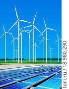 Купить «environmentally benign wind turbines», фото № 18980290, снято 6 июня 2020 г. (c) easy Fotostock / Фотобанк Лори