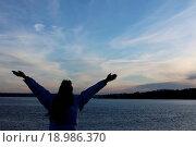 Купить «sunset on the ferry», фото № 18986370, снято 25 июня 2019 г. (c) easy Fotostock / Фотобанк Лори