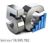 Купить «5G знак. Высокоскоростная технология передачи данных.», иллюстрация № 18995782 (c) Маринченко Александр / Фотобанк Лори