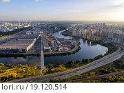 Северо-запад Москвы с высоты птичьего полета (2014 год). Стоковое фото, фотограф Сергей Алимов / Фотобанк Лори
