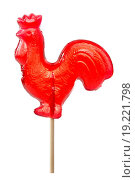 Купить «red sugar cockerel on a stick», фото № 19221798, снято 7 августа 2020 г. (c) easy Fotostock / Фотобанк Лори