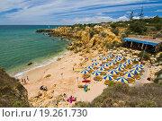 Купить «View of the beautiful coastline near Albufeira in the Algarve, Portugal.», фото № 19261730, снято 10 декабря 2018 г. (c) easy Fotostock / Фотобанк Лори