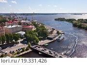 Купить «Панорама Выборга. Вид на центр города и порт», фото № 19331426, снято 27 июня 2015 г. (c) Victoria Demidova / Фотобанк Лори