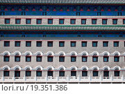 Купить «Close up on Arror Tower also called Jian Lou in Dongcheng District in Beijing, China.», фото № 19351386, снято 19 октября 2018 г. (c) easy Fotostock / Фотобанк Лори