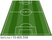 Купить «Football soccer field pitch vector», фото № 19405598, снято 22 февраля 2020 г. (c) easy Fotostock / Фотобанк Лори