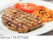 Grilled Tuna steak. Стоковое фото, фотограф Zoonar/P.Rebelo / easy Fotostock / Фотобанк Лори