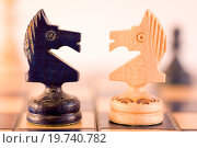 Купить «Conceptual with wood chess pieces.», фото № 19740782, снято 9 февраля 2010 г. (c) easy Fotostock / Фотобанк Лори
