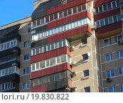 Купить «Тринадцатиэтажный четырёхподъездный панельный жилой дом, построен в 1992 году. Долгоруковская улица, 2. Москва», эксклюзивное фото № 19830822, снято 29 октября 2015 г. (c) lana1501 / Фотобанк Лори