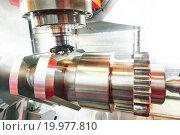 Купить «cnc metal working machining center with cutter tool», фото № 19977810, снято 25 мая 2015 г. (c) Дмитрий Калиновский / Фотобанк Лори
