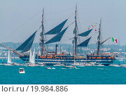 Купить «Ship Amerigo Vespucci», фото № 19984886, снято 16 октября 2019 г. (c) easy Fotostock / Фотобанк Лори