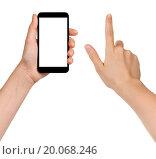 Купить «female teen hands using generic smarpthone», фото № 20068246, снято 30 мая 2020 г. (c) easy Fotostock / Фотобанк Лори