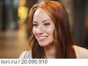Купить «smiling happy young redhead woman face», фото № 20090910, снято 8 ноября 2015 г. (c) Syda Productions / Фотобанк Лори