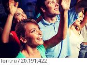 Купить «smiling friends at concert in club», фото № 20191422, снято 20 октября 2014 г. (c) Syda Productions / Фотобанк Лори