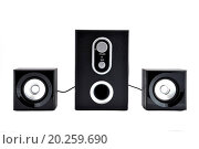 Купить «computer speakers on a white background», фото № 20259690, снято 18 января 2011 г. (c) easy Fotostock / Фотобанк Лори