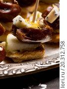 Купить «Appetizer Plate with Dactyl, Pecan nuts and Cheese», фото № 20312758, снято 24 января 2004 г. (c) easy Fotostock / Фотобанк Лори