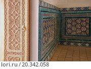 Купить «Интерьер мавзолея в комплексе Шахи-Зинда», фото № 20342058, снято 22 сентября 2007 г. (c) Elizaveta Kharicheva / Фотобанк Лори