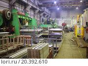 Купить «Production workshop metalworking with equipment and metal wares», фото № 20392610, снято 7 апреля 2014 г. (c) Losevsky Pavel / Фотобанк Лори