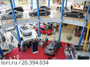 Купить «MOSCOW - MAY 14, 2014: Exhibition of cars in dealership Mercedes-Benz Avilon in Moscow», фото № 20394034, снято 14 мая 2014 г. (c) Losevsky Pavel / Фотобанк Лори