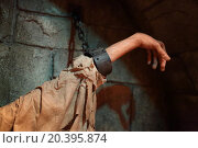 Купить «USA, WASHINGTON – 31 AUG, 2014: Close up view of the hand with shackles at National Museum of Crime and Punishment.», фото № 20395874, снято 31 августа 2014 г. (c) Losevsky Pavel / Фотобанк Лори