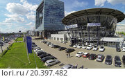 Купить «RUSSIA, MOSCOW - MAY 14, 2014: Dealer center Avilon of Mercedes-Benz company at spring day. Aerial view.», фото № 20397482, снято 14 мая 2014 г. (c) Losevsky Pavel / Фотобанк Лори