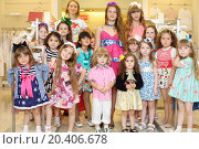 Купить «MOSCOW - MAY 18: Fashion models of Polina Golub in Yakimanka, on May 18, 2013 in Moscow, Russia. Polina Golub is exclusive designer of children clothes.», фото № 20406678, снято 18 мая 2013 г. (c) Losevsky Pavel / Фотобанк Лори