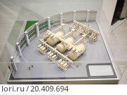 Купить «Architectural model of new modern electrical substation. Top view», фото № 20409694, снято 4 декабря 2013 г. (c) Losevsky Pavel / Фотобанк Лори