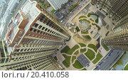 Купить «MOSCOW - OCT 11: ( UAV view) construction of round place near the Residential complex Dubrovskaja Sloboda on October 11, 2013 in Mosow, Russia.», фото № 20410058, снято 11 октября 2013 г. (c) Losevsky Pavel / Фотобанк Лори