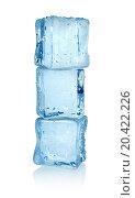 Купить «Ice cubes isolated on a white background. Clipping path», фото № 20422226, снято 6 мая 2012 г. (c) easy Fotostock / Фотобанк Лори