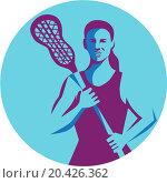 Значок, эмблема игры в Lacrosse Player Stick. Стоковая иллюстрация, иллюстратор Aloysius Patrimonio / Фотобанк Лори