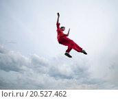 Купить «Shaolin warriors wushoo man in red practice martial art outdoor. Kung fu», фото № 20527462, снято 10 августа 2011 г. (c) easy Fotostock / Фотобанк Лори