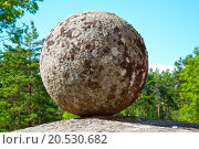 Купить «Stone ball on the rock», фото № 20530682, снято 25 февраля 2020 г. (c) easy Fotostock / Фотобанк Лори