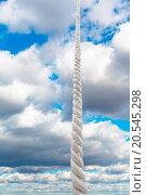 Купить «cord rises to sky with grey clouds», фото № 20545298, снято 9 июля 2020 г. (c) easy Fotostock / Фотобанк Лори