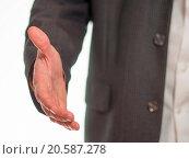 Купить «Outstretched hand to welcome», фото № 20587278, снято 25 апреля 2019 г. (c) easy Fotostock / Фотобанк Лори