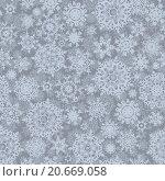 Купить «Бесшовный новогодний фон со снежинками», иллюстрация № 20669058 (c) Владимир / Фотобанк Лори
