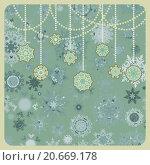 Купить «Фон из нарисованных снежинок», иллюстрация № 20669178 (c) Владимир / Фотобанк Лори